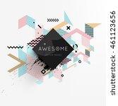 trendy geometric flat pattern ... | Shutterstock .eps vector #461123656