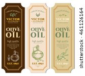 labels olive oils hand drawn... | Shutterstock .eps vector #461126164