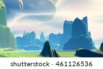 mountain and  lake. landscape... | Shutterstock . vector #461126536