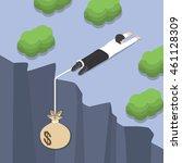 isometric businessman holding... | Shutterstock .eps vector #461128309