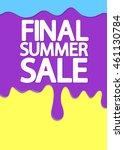 final summer sale  melting ice... | Shutterstock .eps vector #461130784
