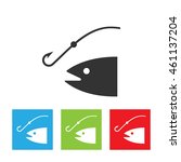 fishing rod silhouette. concept ... | Shutterstock . vector #461137204