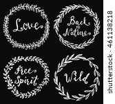 wild and free  love  back to... | Shutterstock .eps vector #461138218