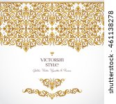vector set of golden vignettes... | Shutterstock .eps vector #461138278