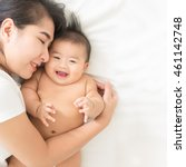 happy family.asian  mother... | Shutterstock . vector #461142748