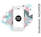 mobile phone icon  trendy... | Shutterstock .eps vector #461145928