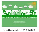 ecology connection  concept... | Shutterstock .eps vector #461147824