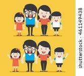 portrait of four member happy... | Shutterstock .eps vector #461149438