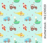 vector seamless kids hand drawn ... | Shutterstock .eps vector #461150020