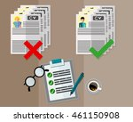hr manager or employer is... | Shutterstock .eps vector #461150908