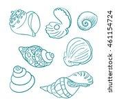 seashells   Shutterstock .eps vector #461154724