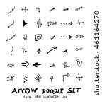 vector hand drawn arrows set | Shutterstock .eps vector #461164270