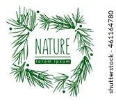 botanical illustration with... | Shutterstock .eps vector #461164780