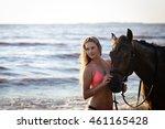 Young Beautiful Woman Ride Wal...