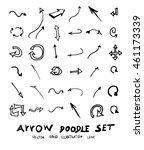 vector hand drawn arrows set | Shutterstock .eps vector #461173339