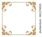 premium gold vintage baroque... | Shutterstock .eps vector #461176024