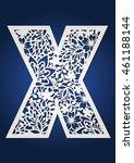 initial monogram letter x. may... | Shutterstock .eps vector #461188144