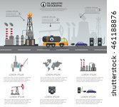 oil industry processing and... | Shutterstock .eps vector #461188876