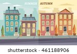 vector cartoon retro... | Shutterstock .eps vector #461188906