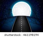 Asphalt Road Night Bright...
