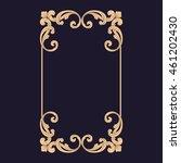 premium gold vintage baroque... | Shutterstock .eps vector #461202430