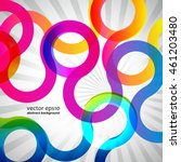 abstract colorful round lines... | Shutterstock .eps vector #461203480