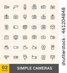 vector thin photo and video... | Shutterstock .eps vector #461204848