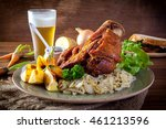 pork hock in german with sauces ... | Shutterstock . vector #461213596
