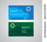 set of two business cards with...   Shutterstock .eps vector #461215450