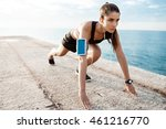 young beautiful sportive girl... | Shutterstock . vector #461216770