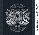 skull front view in center of...   Shutterstock .eps vector #461222059