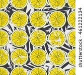 lemon pattern. colorful summer... | Shutterstock .eps vector #461222134