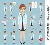 doctor occupation character... | Shutterstock .eps vector #461223034