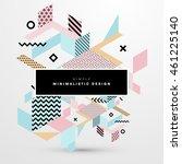 trendy geometric flat pattern ... | Shutterstock .eps vector #461225140