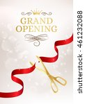 grand opening banner with cut... | Shutterstock .eps vector #461232088