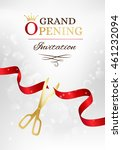 grand opening invitation card... | Shutterstock .eps vector #461232094