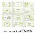 set of business cards for... | Shutterstock .eps vector #461246704