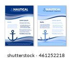 nautical document templates... | Shutterstock .eps vector #461252218