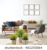 modern living room sofa and... | Shutterstock . vector #461253064