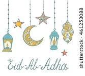 eid al adha theme. beautiful... | Shutterstock .eps vector #461253088