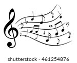 music notes. | Shutterstock .eps vector #461254876