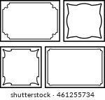 frames borders beautiful vector ... | Shutterstock .eps vector #461255734