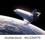 space shuttle in space. 3d... | Shutterstock . vector #461256970