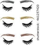 threading salon  eyelash...   Shutterstock .eps vector #461257420