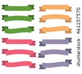 set of  colorful empty ribbons... | Shutterstock .eps vector #461257570