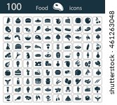 set of one hundred food icons | Shutterstock .eps vector #461263048