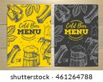 vintage cold beer menu design.... | Shutterstock .eps vector #461264788