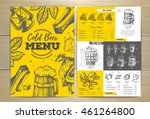 vintage cold beer menu design | Shutterstock .eps vector #461264800