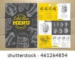 vintage cold beer menu design | Shutterstock .eps vector #461264854