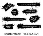 set of splatter hand drawn... | Shutterstock .eps vector #461265364
